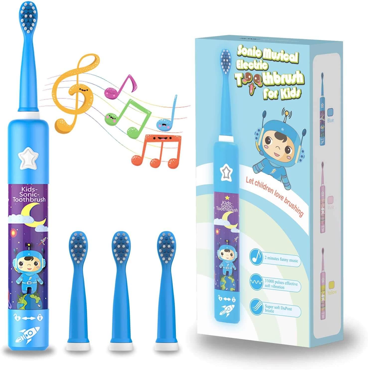 spazzolino elettrico per bambini chain peak