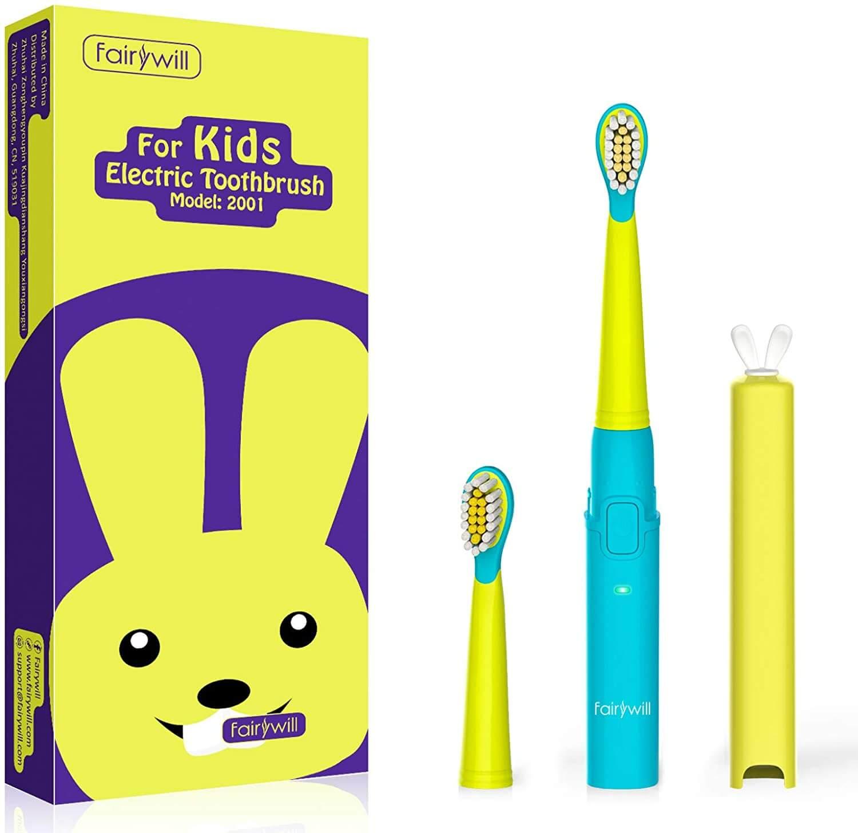 spazzolino elettrico per bambini fairywill